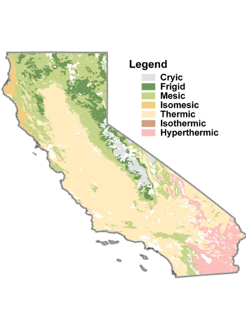 California soil resource lab gis and digital soil for Soil temperature map