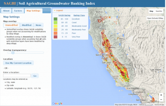 This App Identifies The Suitability Of Soils For On Farm Groundwater Recharge In California